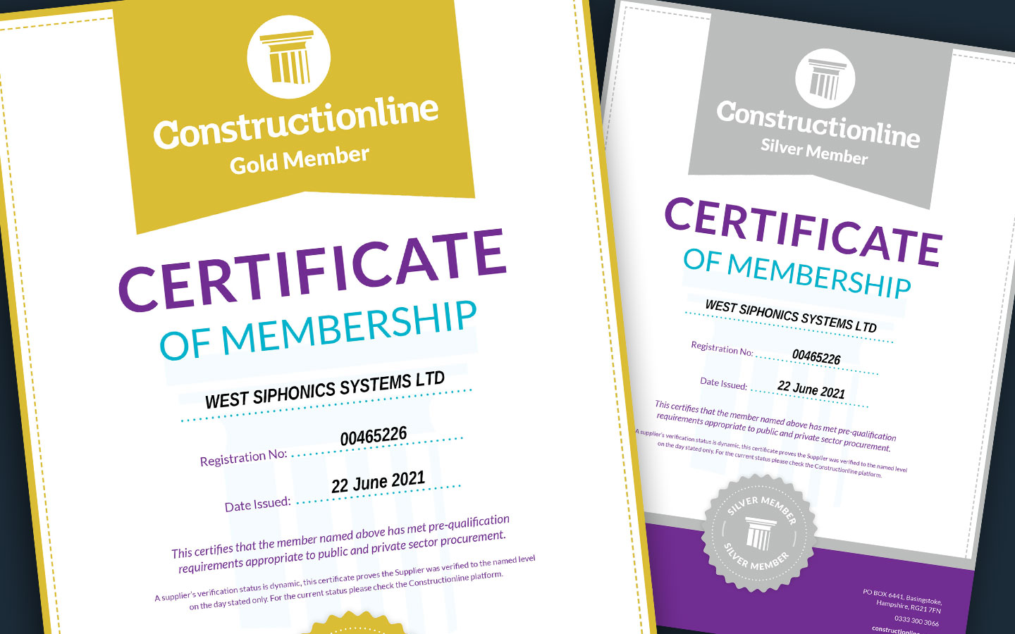 Constructionline Gold and Silver Membership