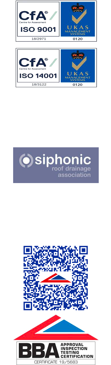 West Siphonics Systems England Scotland Siphonic Syphonic Roof Drainage Specialists Design Manufacture Installation Project Management Accreditations